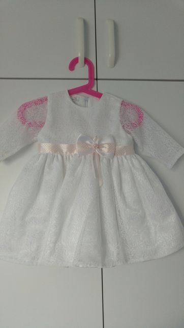 Komplet do chrztu sukienka futerko 68 74 jak abrakadabra la mere