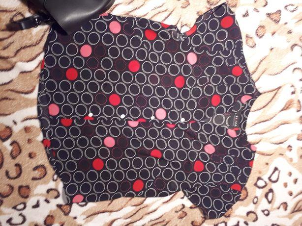 Блуза в горошок 46 розмір