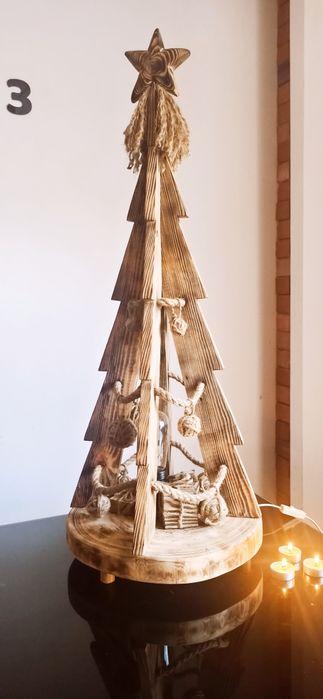 Choinka drewniana dekoracja święta styl rustykalny Jasienica - image 1