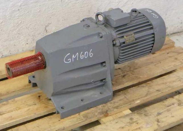 Motoreduktor 3 kW obr 50 /min VEM KMR oś 60 mm, radler , zgarniacz ,