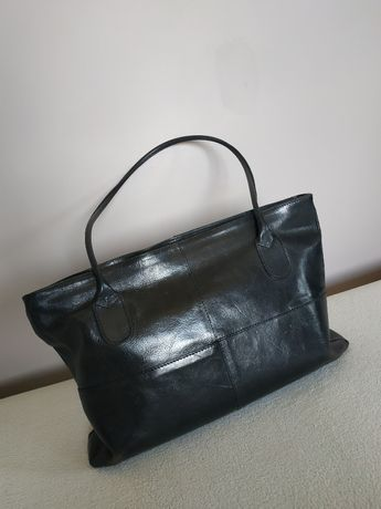 Czarna skórzana torebka firmy Cholewiński, stan idealny, super cena