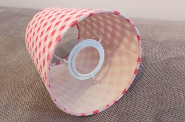 Klosz do lampy czerwono-biało-różowy 15 cm