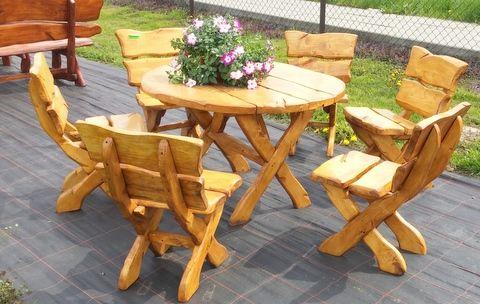 Zestaw Mebli Ogrodowych Staropolski 6 krzeseł + stół