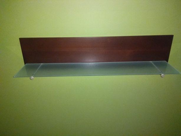Półka Kler reprezentacyjna. drewno i szkło. Stan idealny.