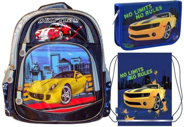 Комплект Хот вилс: Рюкзак + пенал + сумка, для мальчика, распродажа