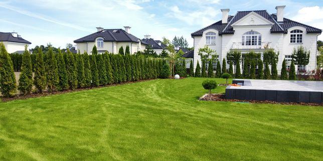 Koszenie trawy zakładanie ogrodów tarasy kostka brukowa