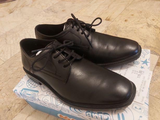 39) Buty pantofle komunia, święta, rozmiar 34, jak nowe, SKÓRZANE