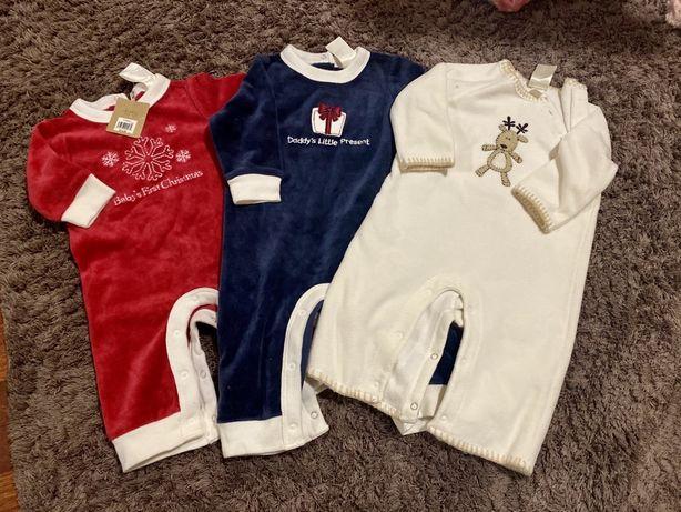 Новогодний костюм/ комбинезон для малыша 0-3, 3-6 мес
