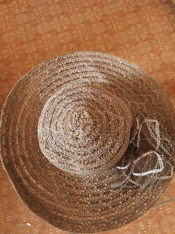 Шляпа пляжная широкополая