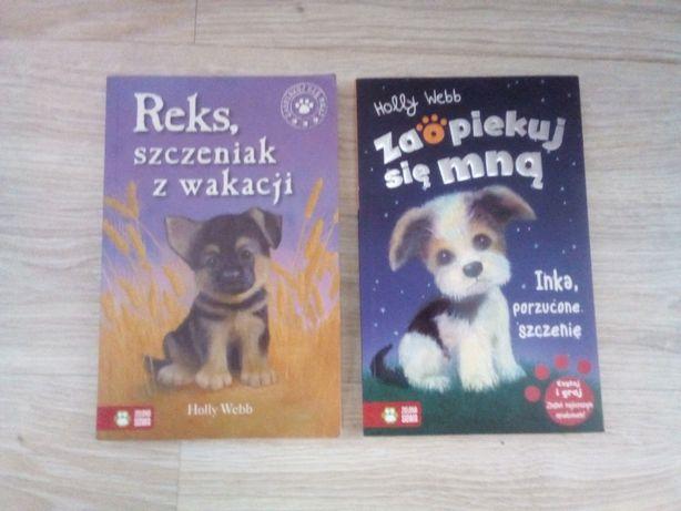 Książki pod tytułem Zaopiekuj się mną i Reks szczeniak z wakacji