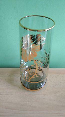 Wazon szklany złocony