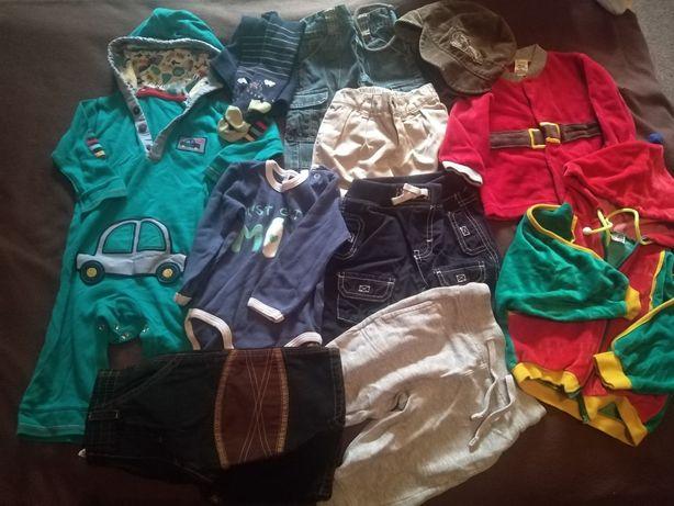 Śliczne ubranka  38szt. r.62-80 plus buciki, mata