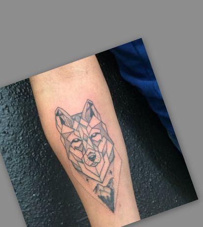... Tatuaż tymczasowy / zmywalny /próbny / henna -->Wilk/Wolf ...