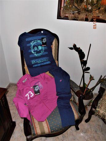 Fato Treino menina-Lotto-Sport Design e t-shirt azul-Novo com etiqueta
