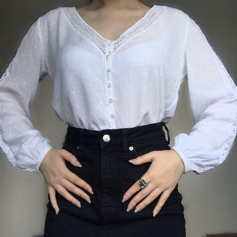 Винтажная блуза с обьёмными рукавами Stradivarius