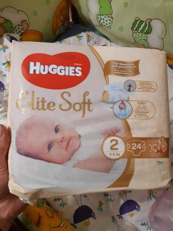 Подгузники Huggies Elite Soft 2 4-6 кг 24 шт