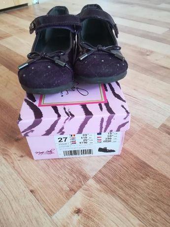 Fioletowe eleganckie buciki dla dziewczynki, r 27