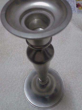 castiçal banhado a prata BAIXOU