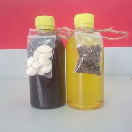 Масло тыквенное тыквенных и арбузных семечек,чёрного тмина в Донецке