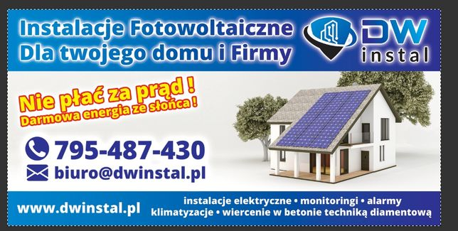 Instalacje Pv fotowoltaiczne, klimatyzacje, instalacje elektryczne