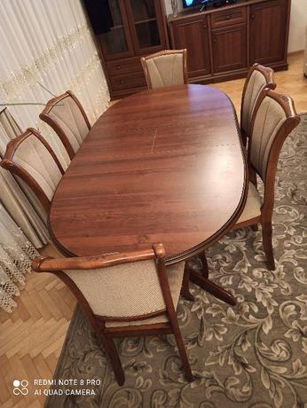 Sprzedam stół z krzesłami i łóżko. Stan bardzo dobry!