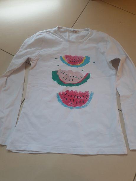 Dziewczęca koszulka na długi rękaw