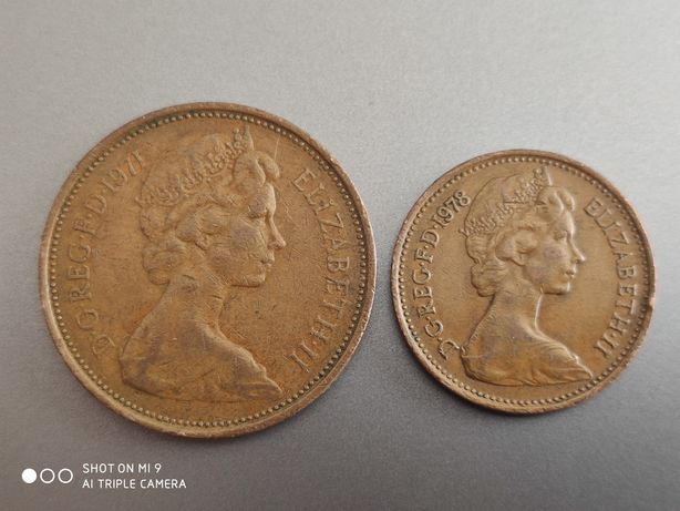 2 new pence 1new penny