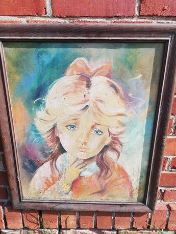Płacząca dziewczynka- obraz na płótnie