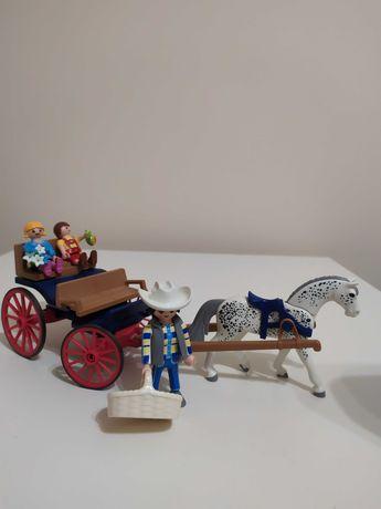 Playmobil bryczka konik 3 figurki