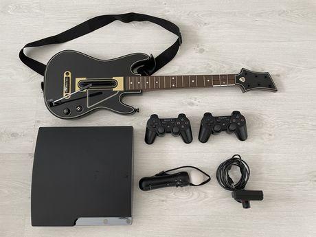 Konsola Sony PS3, 30 gier, Guitar Hero Live, Move