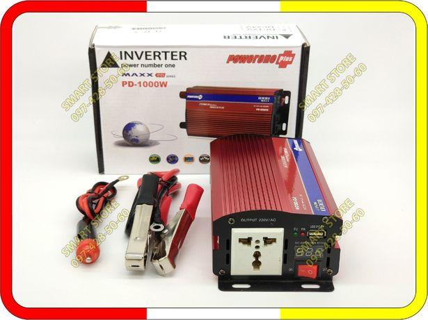 Преобразователь напряжения 12/220V и 24/220. PowerOne 1000 Вт