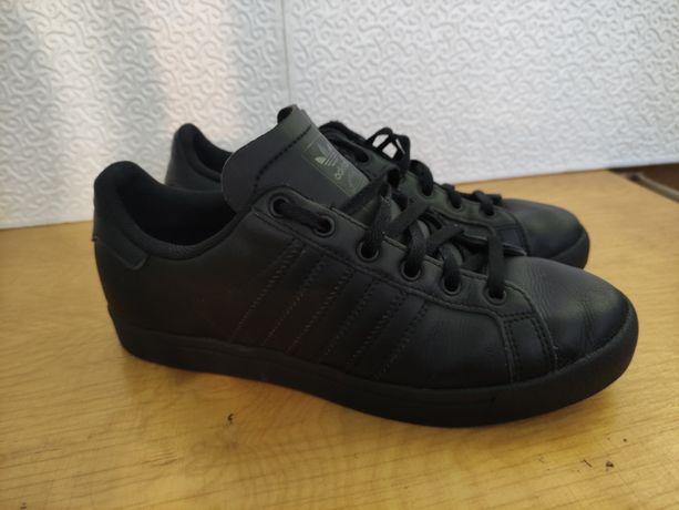 Кроссовки кожаные черные Adidas Coast Star