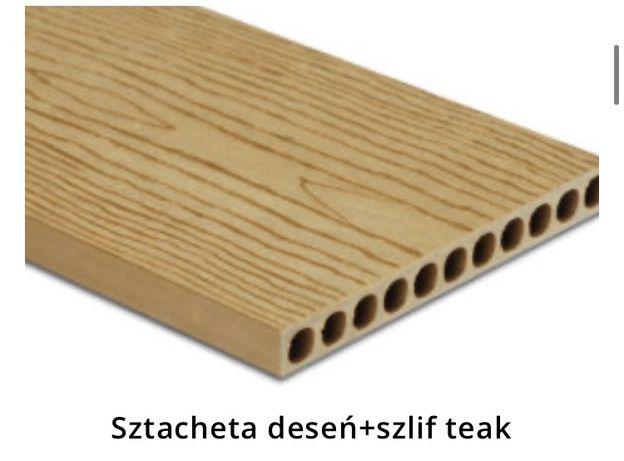 Sztacheta kompozytowa Teak deseń szlif 2m OD Ręki