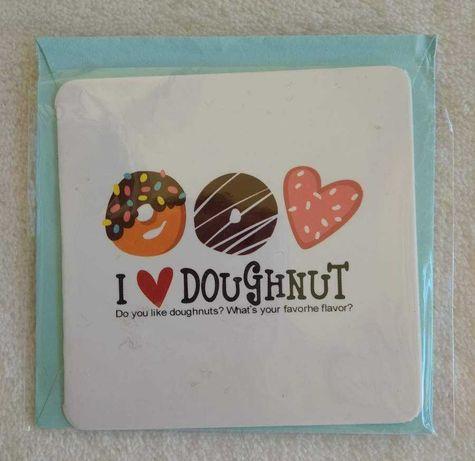 Postal fofinho - I Love Donuts - NOVO