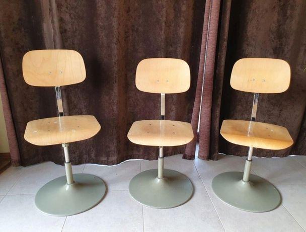 Krzesła PRL - 3 sztuki, regulowane, Loft