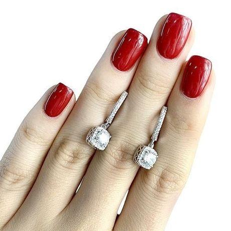 Продам сережки серебро 925° покрытое родием