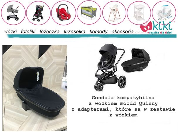 Gondola foldable quinny do wózka moodd, Buzz black devotion