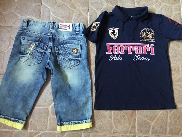 Новые джинсовые шорты Ferrarri р.128-134