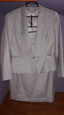 Kostium Cotton Club kolor srebrny