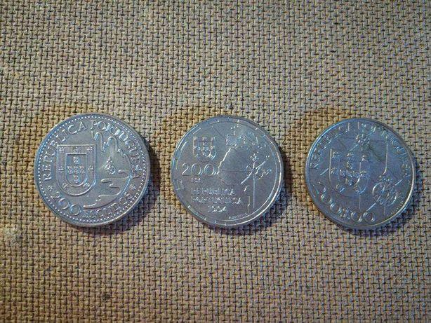 Moedas 200 escudos em Crupu-Nickel (3) comemorativas