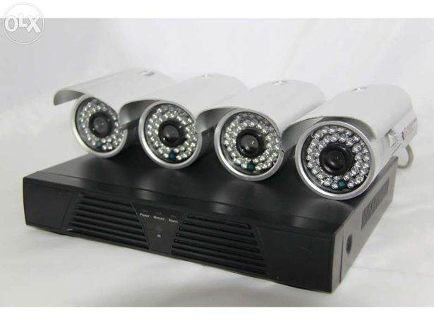 KIT sistema video vigilancia DVR + 4 cameras 1200 linhas sensor Sony
