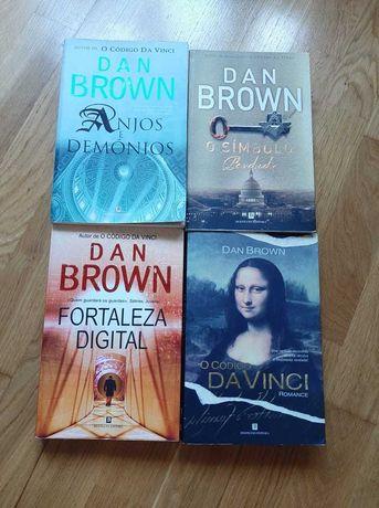 Livros Dan Brown com portes incluídos