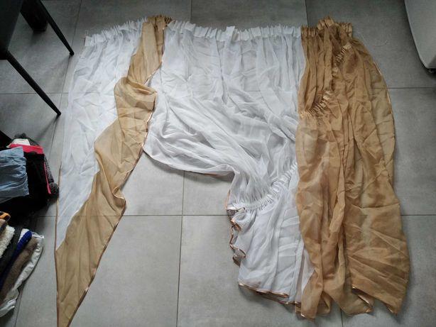 Firanka biala/brazowa