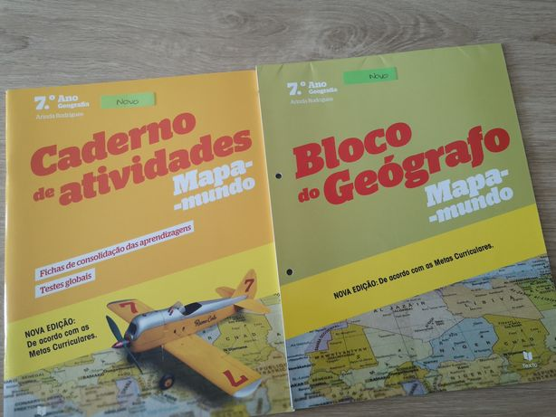 """Caderno de atividades """"Mapa-mundo"""" de Geografia 7° ano."""