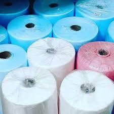 Простынь одноразовая белая, голубая 60-80см, 500м. Спанбонд, рулон