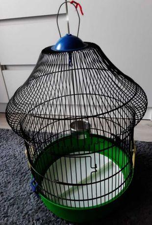 Bardzo ładna zielono czarna klatka dla papug
