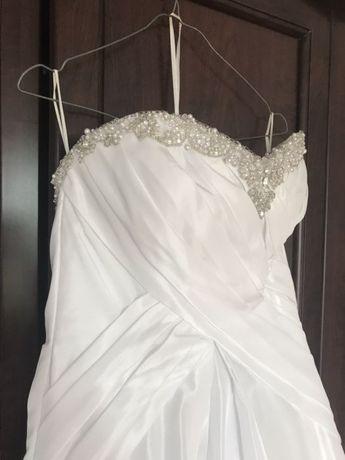 Zjawiskowa suknia ślubna Jasmine tren swarovski rozmiar 36 gratisy