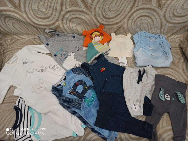 Лот пакет фирменная одежда человек боди Disney Gap George 0-3