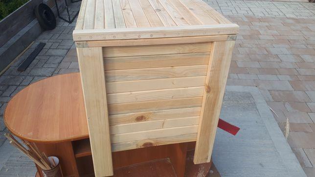 Kufer drewniany skrzynia do domu altany ogrodu