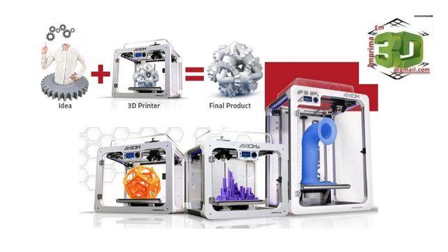 Impressão em 3D personalizada e desenho de projetos e modelos